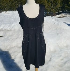 Rock & Republic black dress with studs Large